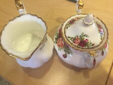 "ROYAL ALBERT  ""OLD COUNTRY ROSES  SUGAR AND CREAMER ENGLAND"