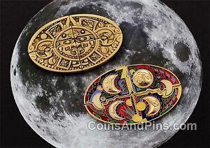 Aztec Puzzle Moon Geocoin - Bronze