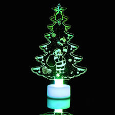 Creative Colorful Christmas Tree LED Night Light Decorative Wall Lamp Home Tools