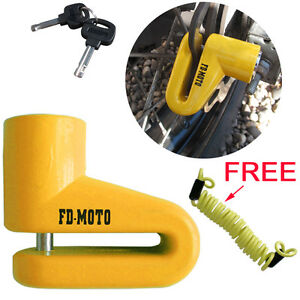 FD-MOTO Scooter Bike Motorcycle Motorbike Disc Lock Security Cycle Cable 150cm