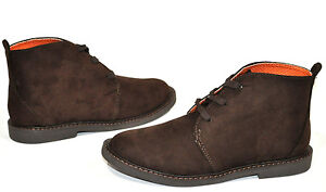NEW COLE HAAN BOYS CARLTON CHUKKA ANKLE BOOTS BROWN SUEDE SCHOOL SHOES 1