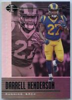 Darrell Henderson Rookie Card #98 2019 Illusions Football Los Angeles Rams RB
