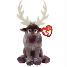 """Ty Beanie Baby Boo's 6"""" Sven the Reindeer Stuffed Plush MWMT'S New w/ Heart Tags"""