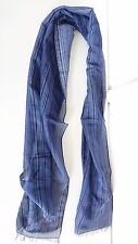 Paul Smith Scarf - Blue Signature Stripe Scarf/New & Genuine/Made in Italy