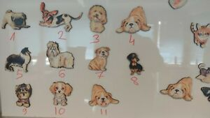 Dog fridge magnets 3x, cute magnets for whiteboard, home office decor, gift