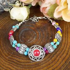 Fashion Tibetan Silver Jewelry Beads Bracelet Turquoise Classic Style Bangles