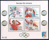 Norvege 1993 Mi bloc 19 Mnh**  1993 Jeux olympiques de Lillehammer