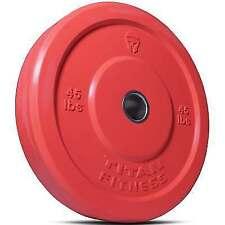Titan Fitness 45 LB Olympic Bumper Plate Red Benchpress Strength Training Power