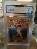 1987 Topps Pirates Giants Barry Bonds Mint Rookie Card #320 9 Mint GMA