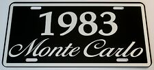 1983 83 MONTE CARLO METAL LICENSE PLATE 350 400 454 SS LOWRIDER NASCAR CHEVY