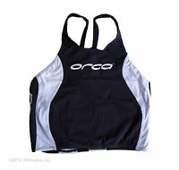 new Orca swim men's Race training singlet aqua glide sensitive fabric Small