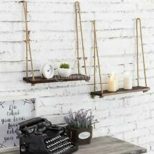 Wall Mounted Shelves Hanging Shelves Organiser with Rope Bedroom Decor Gifts