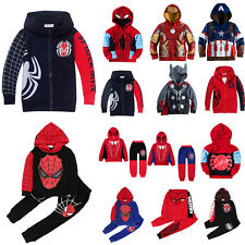 Kids Boys Outfit Superhero Hoodie Jacket Sweater Winter Hooded Outwear Tracksuit