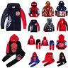 Kids Boys Superhero Spiderman Hoodie Sweatshirt Coat Jacket Tracksuit Clothes