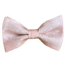 Stones Handmade Blush Pink Paisley Pre tied Bow tie