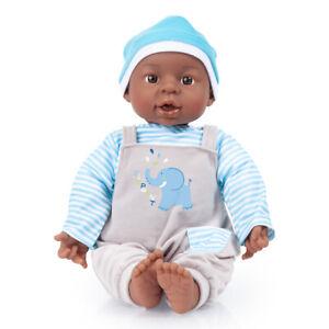 Baby Brooky Boy 40cm Babypuppe Funktionspuppe 12 sounds Hautfarbe dunkel 94001AH