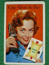 Coca-Cola Pretty Girl w/ Playing Card Score Pad 1961 Vintage Swap Card MINT Cond
