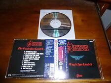 Saxon / The Eagle Has Landed (Live) JAPAN TOCP-8374 BURRN No.36 1ST PRESS!!! *Q