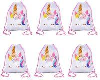 Unicorn Drawstring Bag, Unicorn Party Favor Bags Large Size (6)