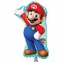 "New XL Super Mario SUPERSHAPE 33"" Birthday Party Supplies Foil Balloon"