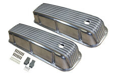 BB Chevy BBC Tall Finned Polished Aluminum Valve Covers 396 427 454 502 Rat Rod