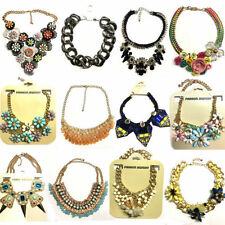 Charm Crystal Chunky Costume Necklaces & Pendants