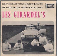 """45 T EP LES GIRARDEL'S """"J'EN DEDUIS QUE JE T'AIME""""  (DS CITROËN)"""