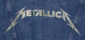 METALLICA And Justice For All PROMO Denim Jean Jacket AMAZING EMBROIDERY Rare