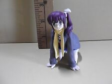 """#A114 Girls Bravo Anime 3""""in Girl Figure Purple Ponytail Hair on Hands & Knees"""