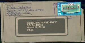 Mayfairstamps Nicaragua to Concurso Vanidades Rowing Cover wwi_88879