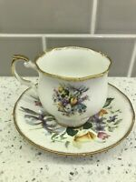 Royal Aradalt tea cup and saucer wild flowers teacup England Vintage Bone China