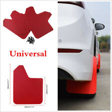 "4Pcs Mudflaps Mud Flaps Splash Guards 11.5""×15.1"" Red For Car Pickup SUV Truck"