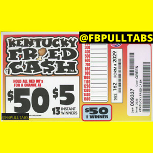 KENTUCKY FRIED CASH - 162 PULL TABS - $1 EACH - $47 PROFIT - FREE SHIPPING