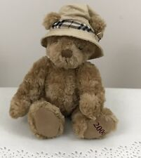 Burberry Fragrances Teddy Bear Nova Check Plaid Hat Plush Stuffed Brown 2006 12""