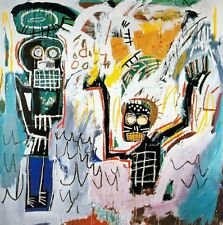"Jean-Michel Basquiat ""Baptism"" Oil Painting on Canvas Huge Wall Picture 24x24"""