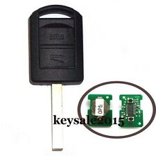 Uncut Remote Key 2 Button 433Mhz ID40 for Vauxhall Corsa C Combo 2004-2006 HU100