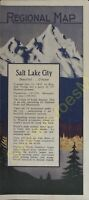 Regional Map Salt Lake City Two BArgains Bell South Long Distance Rates Brochure