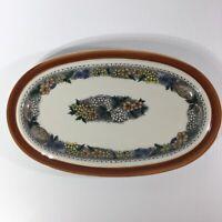Goebel Country Burgund Platter Bavaria W. Germany Oeslauer Ovenproof Dinnerware