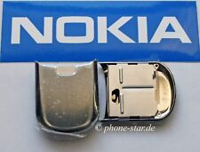 Original Nokia 8800 front cover a-cover Assembly slide flap Steel Silver 0256167