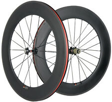 700C 88mm Full Carbon Bicycle Wheelset Clincher Carbon 23mm Carbon Cycle Wheels