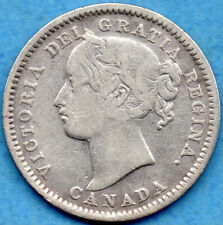 Canada 1901 10 Cents Ten Cent Silver Coin - VG/F