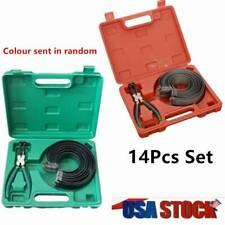 Automotive Engine Piston Ring Compressor Tool Set with Pliers and 14 Bands US