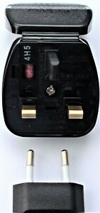 Original GHD Replacement Powerconnections EU to UK Converter Plug Adapter
