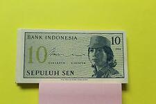 1964 Indonesia 10 sen banknote au/unc P92