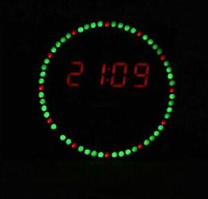 LED Electronic Clock DIY EC1515B DS1302 Light Control Rotation Kits Board Music