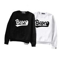 POP LOVERS BAPE A BATHING APE Sweatshirt Hoodies Men's Long Sleeve Cotton Sweats