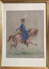 Eugène PECHAUBES 1890-1967.Gravure réhaussée gouache+aquarelle.23x18.SBG.Cadre.