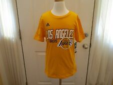 Brand New with Tags Los Angeles Lakers Youth Medium 10-12 Adidas Shirt MSRP $20
