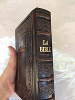 La bible the bible in hebrew and french hardcover luxurious leather