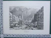 C1875 Antico Stampa ~Innspruck~ Innsbruck
